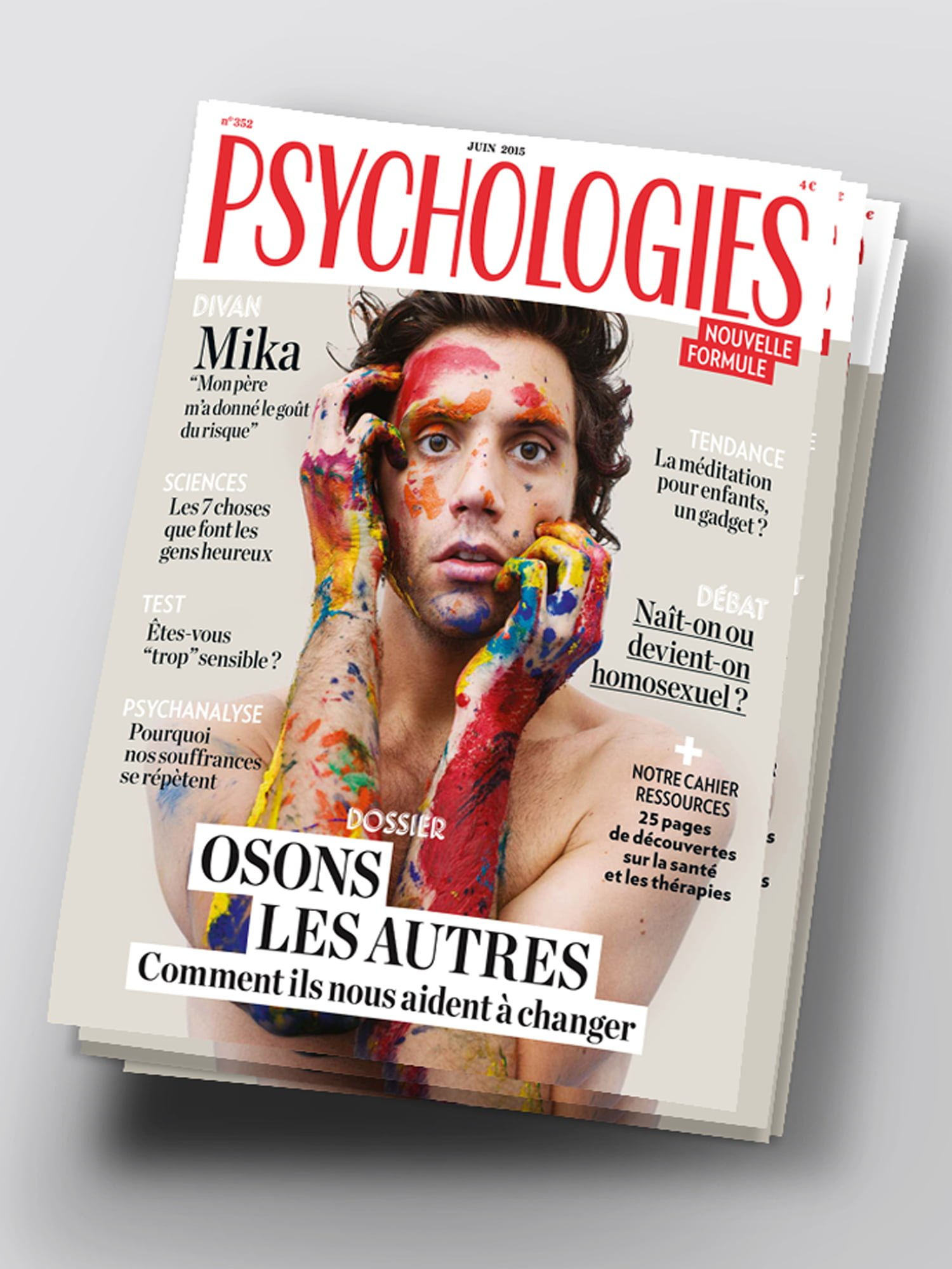 aurelie bert,psychologies magazine,nouvelle formule,presse,freelance,design graphique