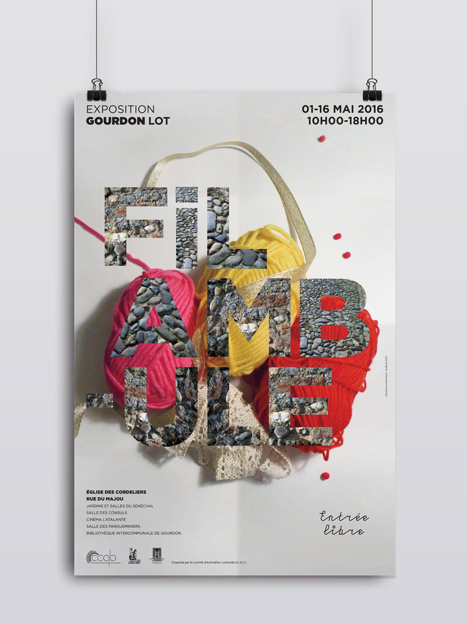 Filambule,affiche,exposition,artiste,aurelie bert,design graphique,freelance